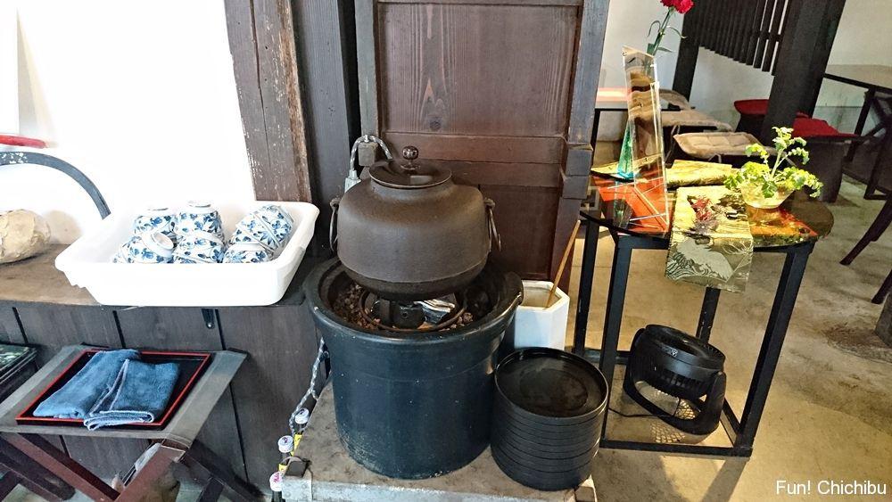 A tea kettle
