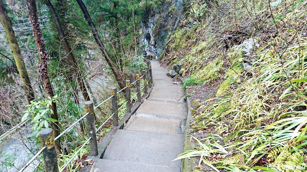 鍾乳洞入り口に続く階段