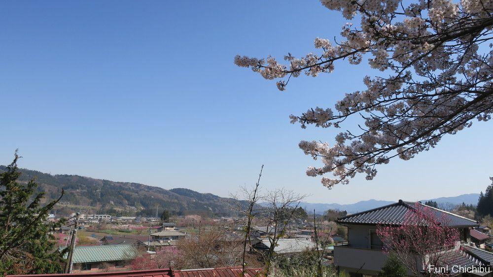昌福寺から見る旧荒川村