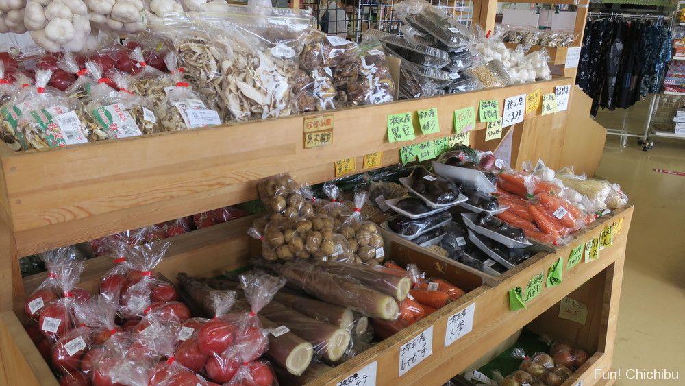 秩父でとれた新鮮野菜の直売所