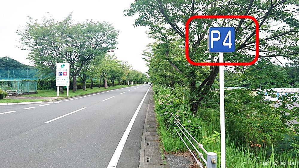 ミューズパークP4駐車場