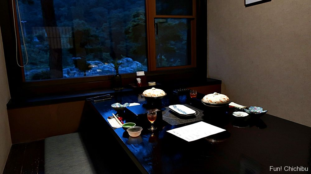 夕食の個室