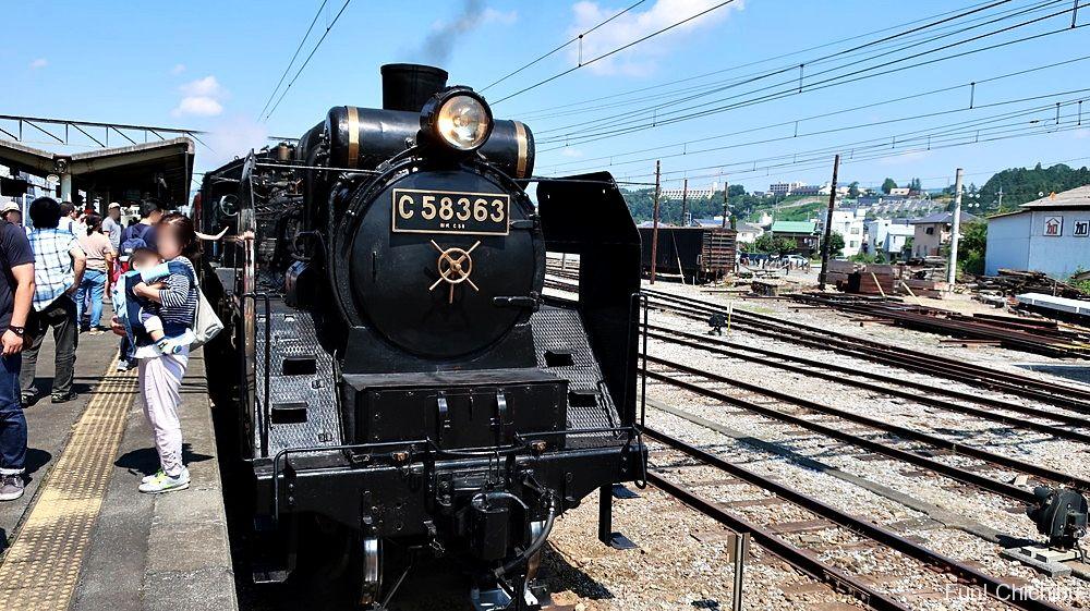 秩父駅のSLパレオエクスプレス