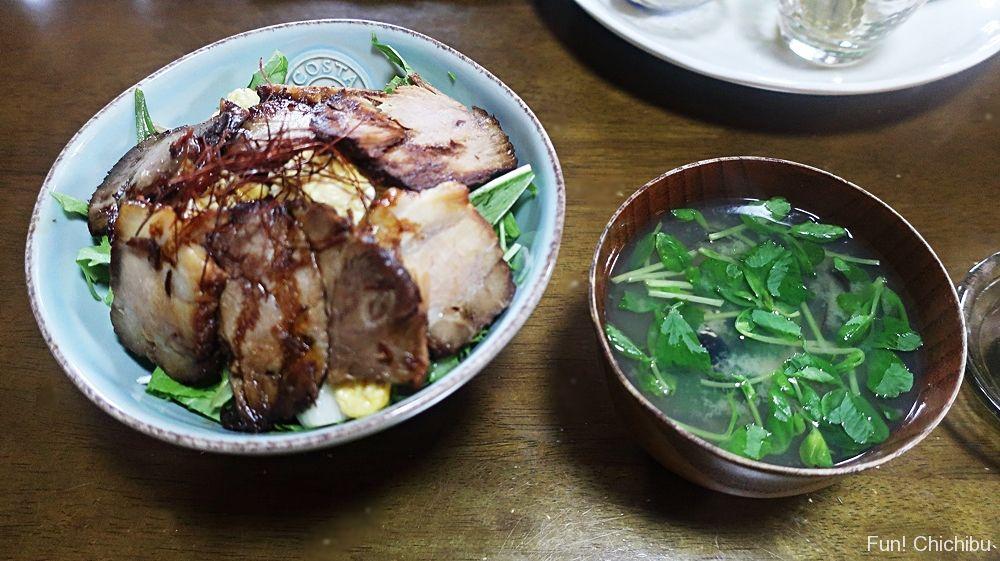 煮豚丼セット