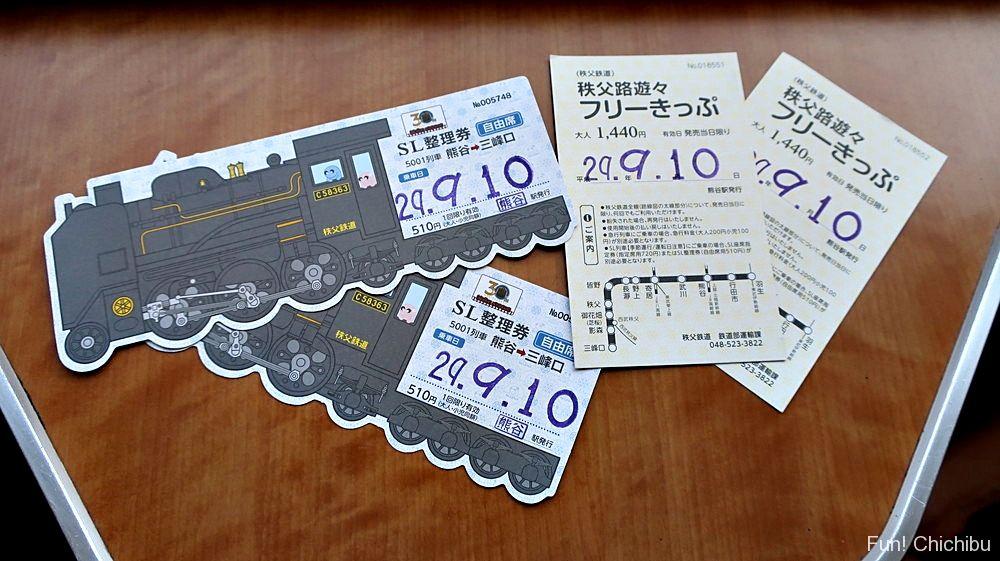 SL乗車券とフリーパス