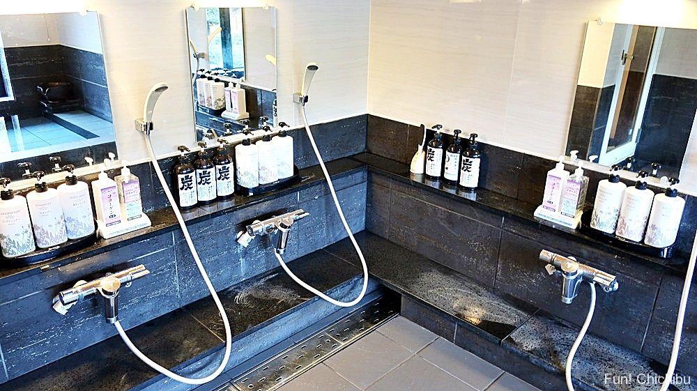 別邸庭園風呂洗い場