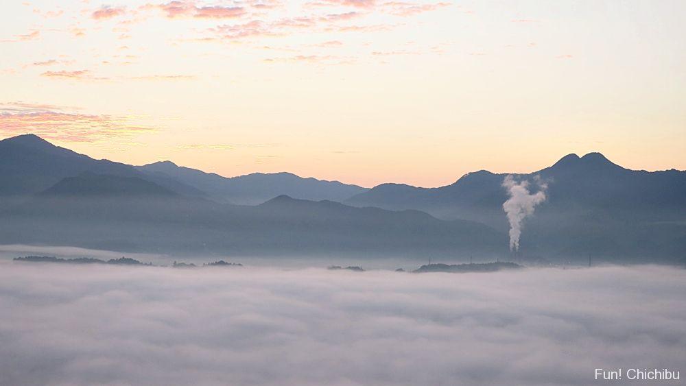 ミューズパーク展望台の雲海
