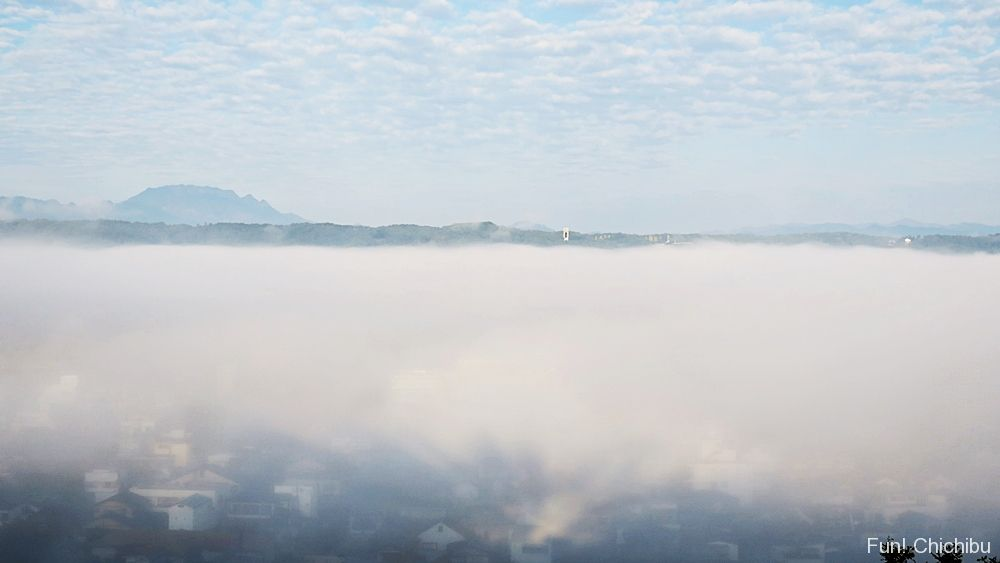 羊山公園の雲海
