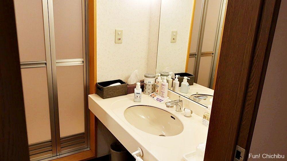 浴室と洗面台