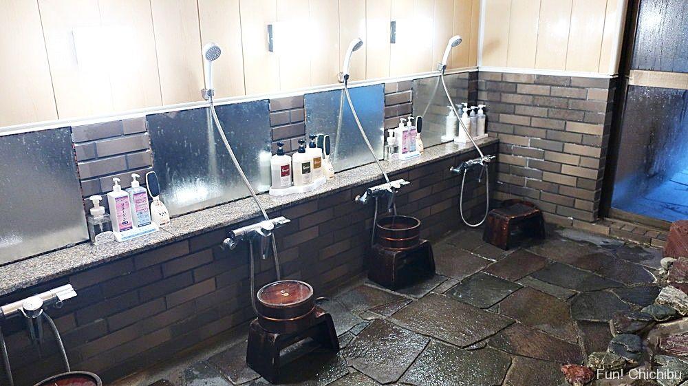 竹影の湯洗い場