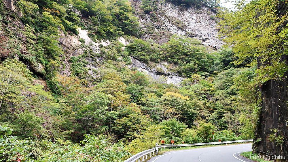 中津峡断崖