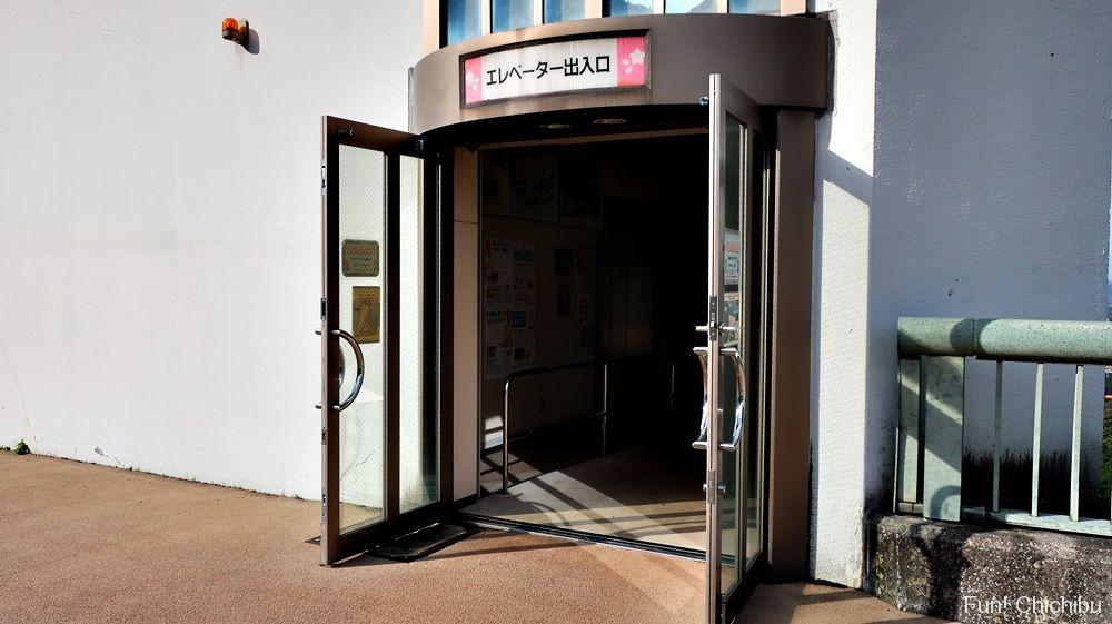 浦山ダムエレベーター入り口