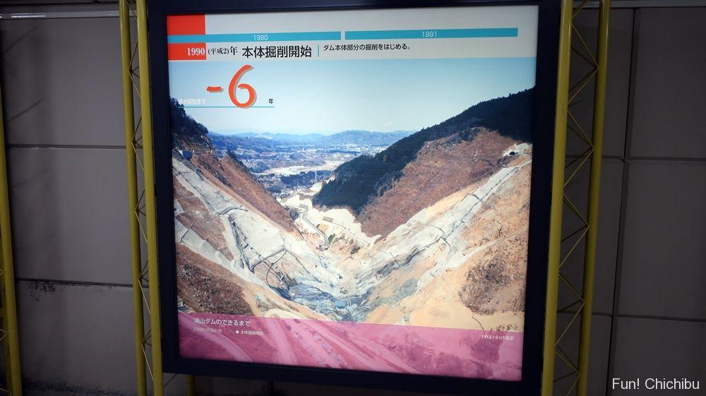1990年の浦山ダム