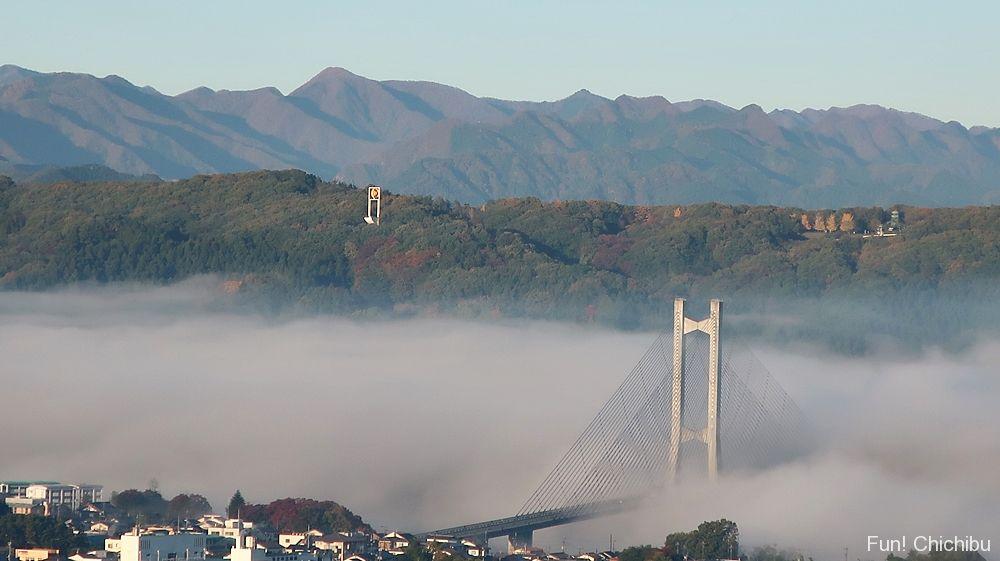 秩父公園橋と雲海