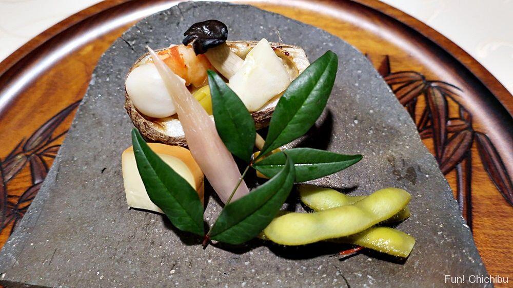 里芋・百合根・海老の焼き物
