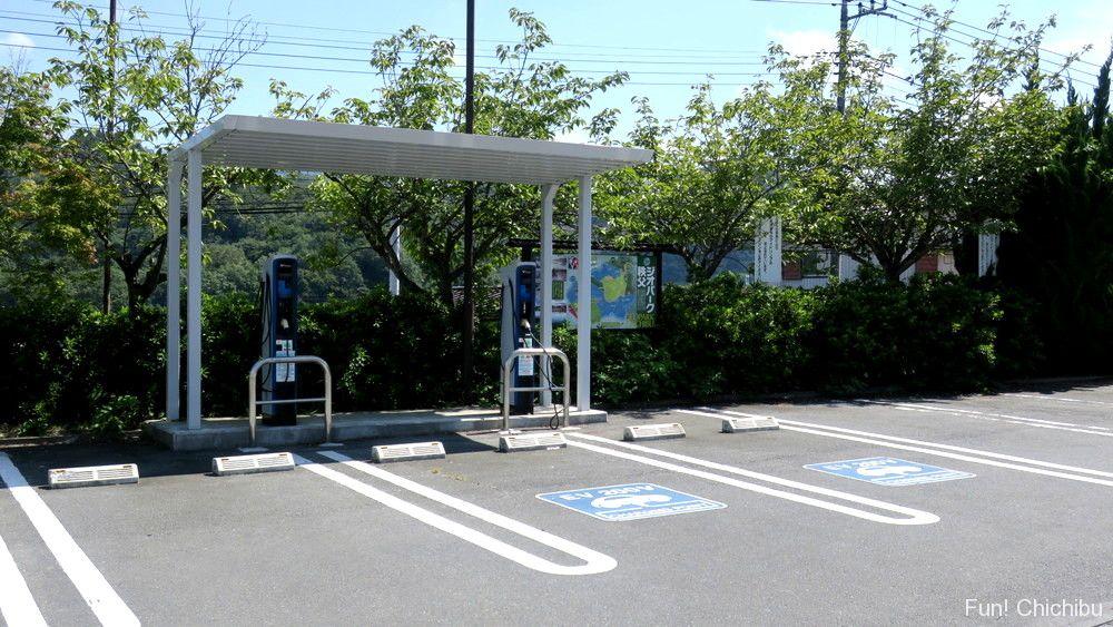 道の駅みなのEV用普通充電器