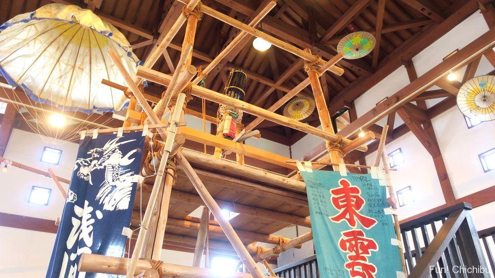 龍勢祭の櫓(やぐら)
