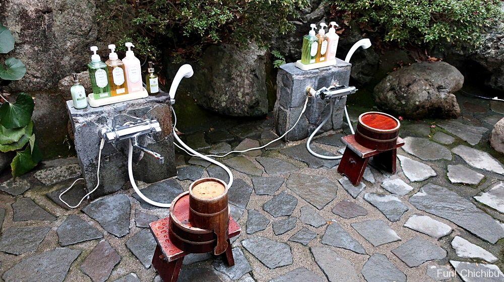 貸切露天風呂 洗い場
