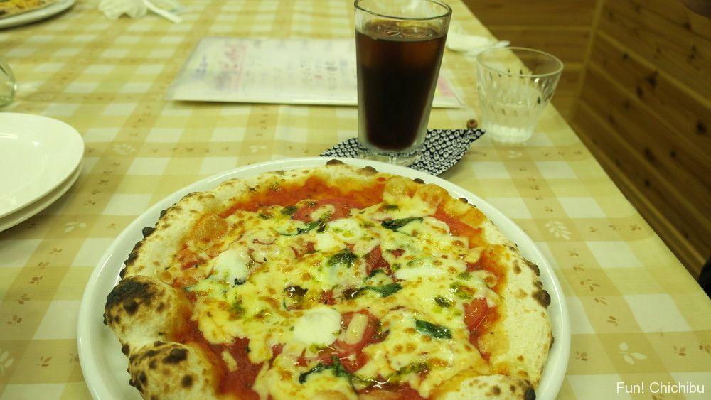 ピザのお店「和・て~ら」マルゲリータ