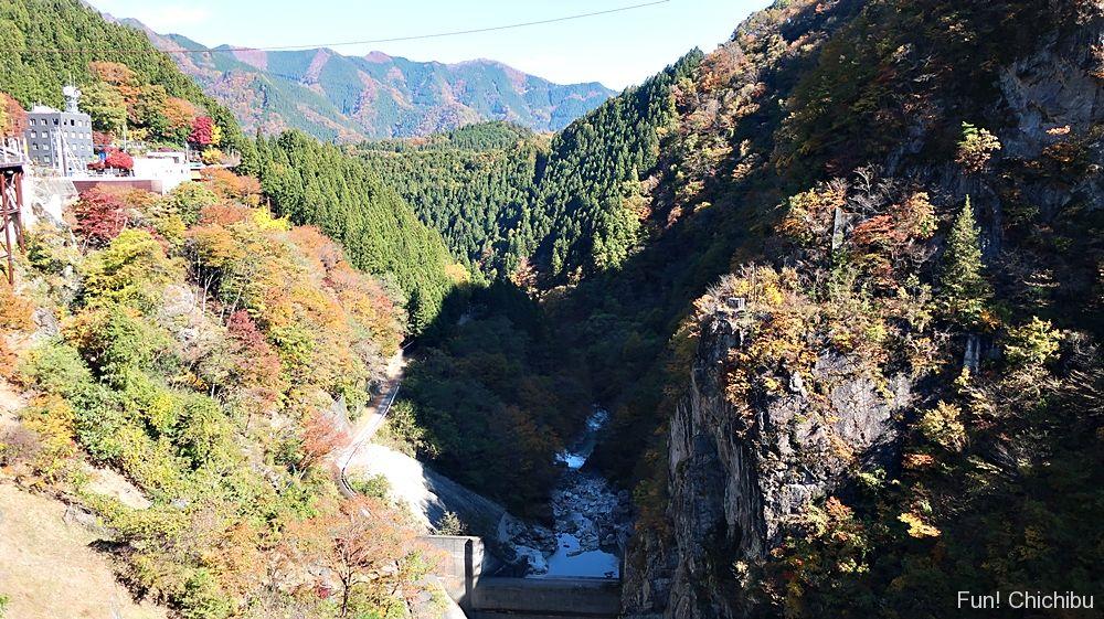 二瀬ダム下流方向