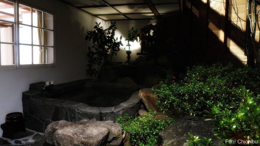 客室露天風呂 夜2