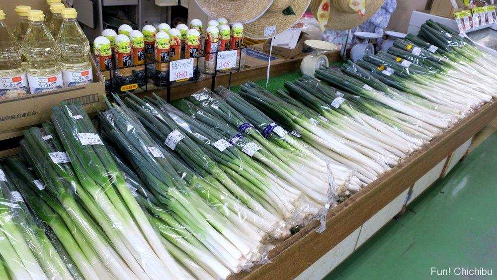 道の駅みなの農産物直売所の野菜