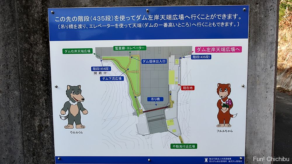 滝沢ダム案内図