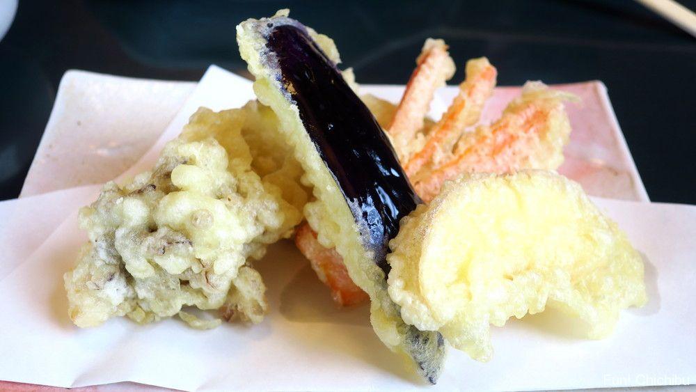 みやび庵の野菜の天ぷら