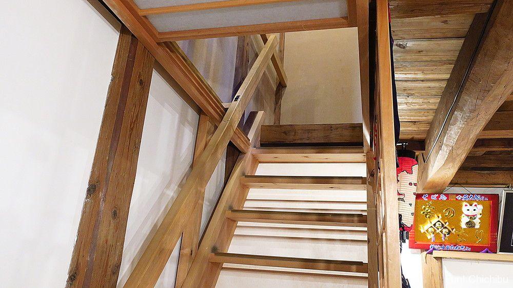 そば処 英太郎の2階へ上がる階段