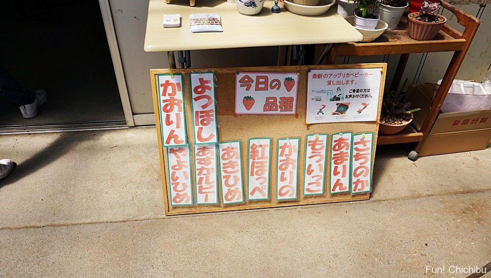 中蒔田富田農園いちご品種