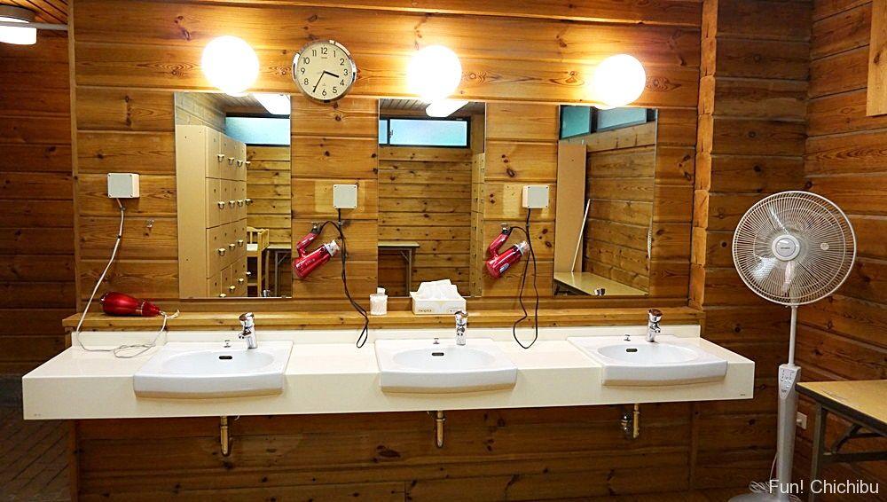 樹音の湯洗面所