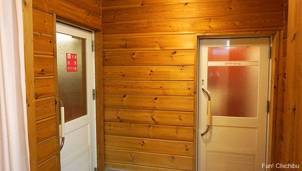 樹音の湯浴室とシャワールーム
