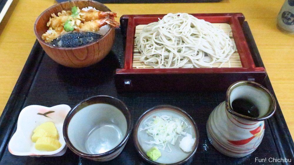 泉蕎庵とみたのもりそば小天丼セット