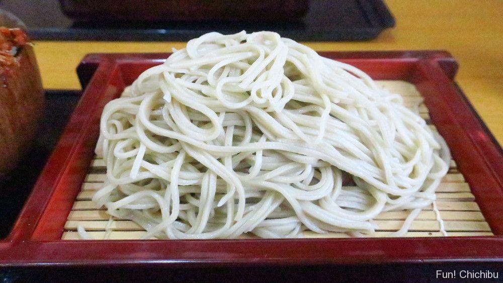 泉蕎庵とみたのもりそば小天丼セットの蕎麦