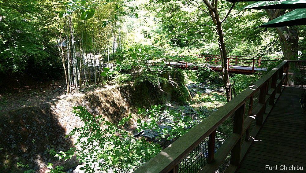 横を流れる小川