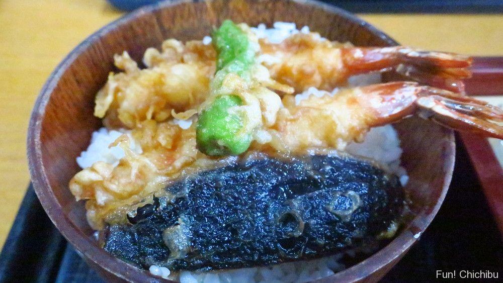 泉蕎庵とみたのもりそば小天丼セットの小天丼