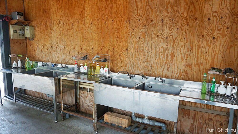 バーベキューガーデン洗い場