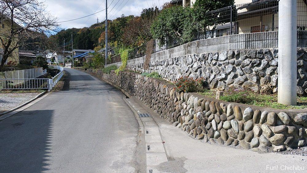 ここさけ聖地「横瀬町 聖地公園へ続く道路①」付近