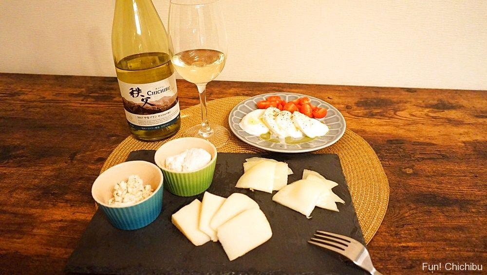 チーズと兎田ワイン