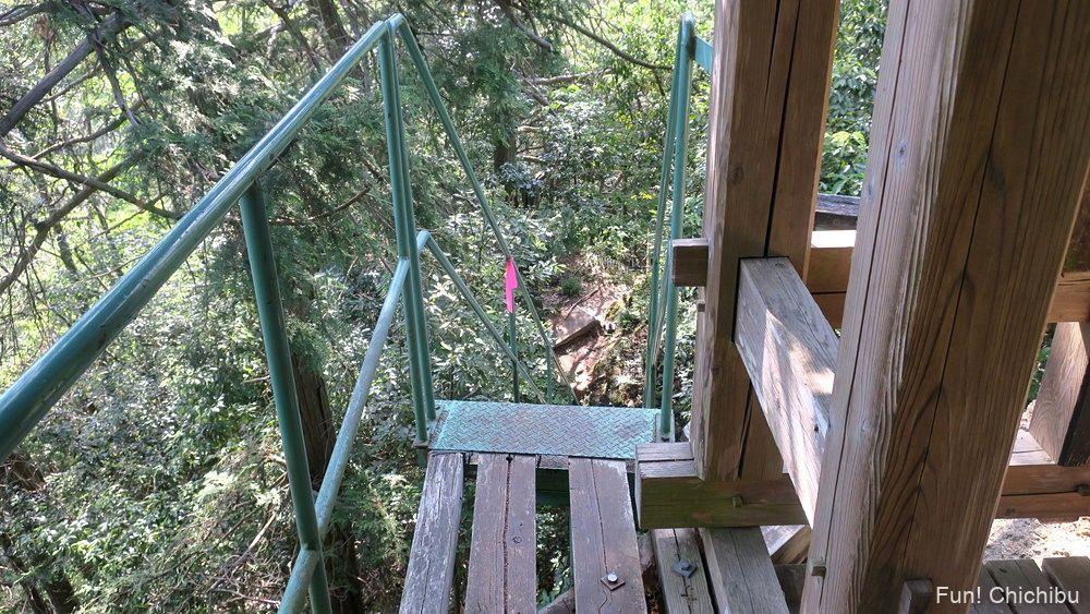 琴平ハイキングコース 秩父修験道の階段