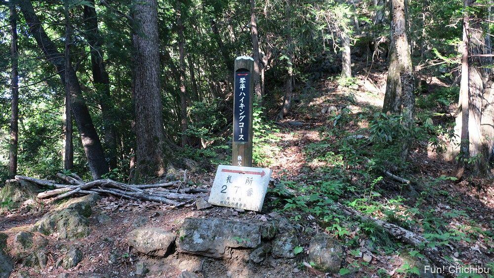 札所第27番大渕寺の観音堂(月影堂)琴平ハイキングコースの目印