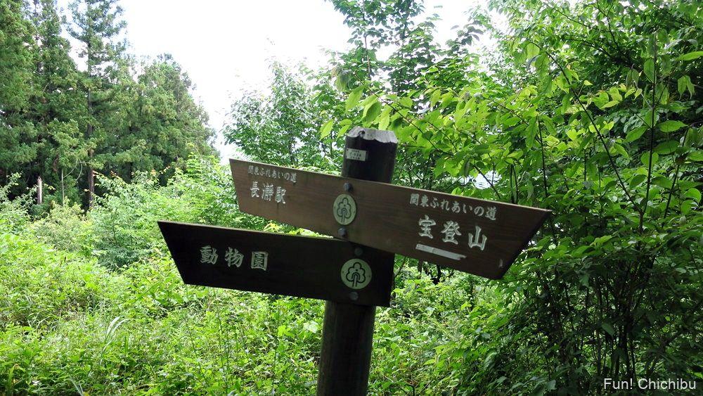 長瀞アルプス宝登山 長瀞遊歩道の標識