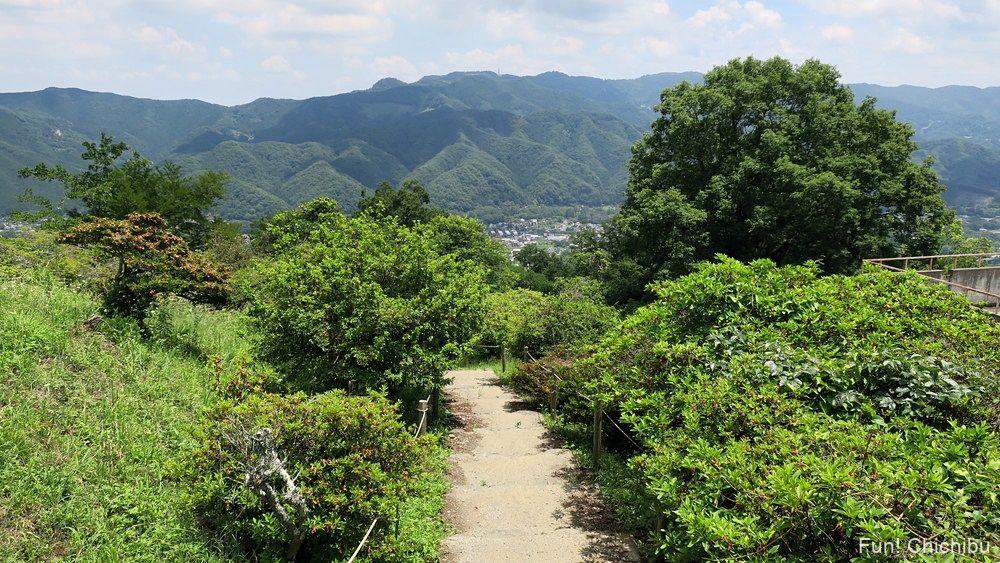 長瀞アルプス宝登山 長瀞遊歩道の狭い道
