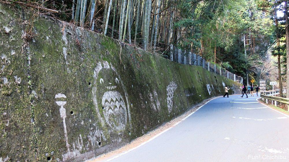 定峰峠 苔アート となりのトトロ